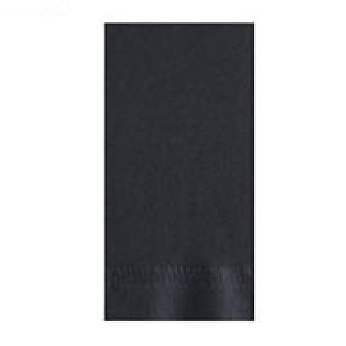 "Lapaco 511-113 2-Ply 15 x 17"" Black Dinner Napkin - 1000 / CS"