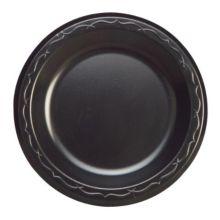 "Genpak LAM09-3L 8.9"" Round Black Laminated Foam Plate - 500 / CS"