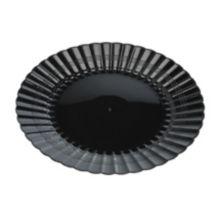 "EMI Yoshi® EMI-REP6-BLK Reposables Plastic 6"" Plate - 180 / CS"