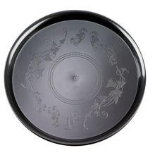 "EMI Yoshi® EMI-260-BLK Plastic Round 16"" Tray - 25 / CS"