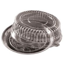 """EMI Yoshi® EMI-380LP Clear 18"""" Dome Lid For Round Tray - 25 / CS"""