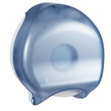 "San Jamar R2000TBL Arctic Blue 9"" Jumbo Bath Tissue Dispenser"