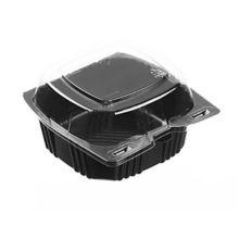 Par-Pak® 29567 Black 5 x 4.75 x 2.9 Plastic Container - 500 / CS
