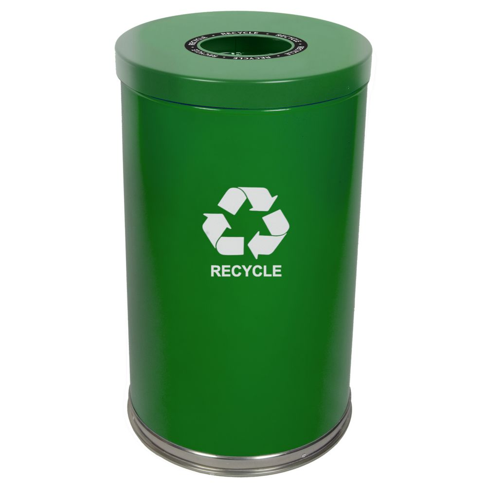 Witt 18RTGN-1H Emoti-Can 20 Gallon Green Recycling Container
