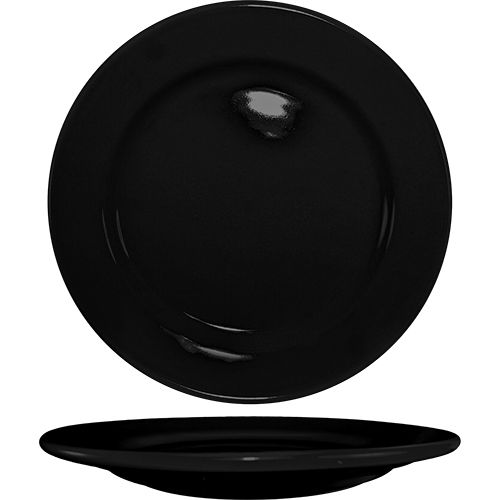 "International Tableware CA-6-B Cancun Black RE 6-5/8"" Plate - 36 / CS"