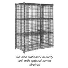 Eagle® SC2460 Chrome Finish Security Cage with Hasp Pad Lock