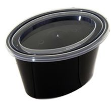 Pactiv E505B Ellipso™ Black 5 Oz Portion Cup With Lid - 500 / CS
