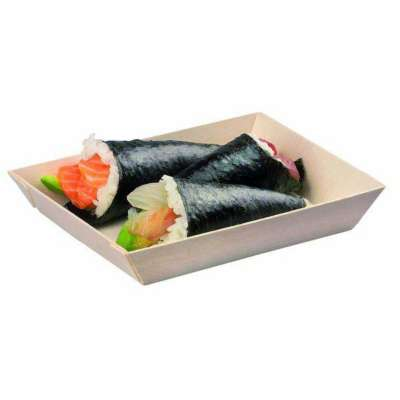 PackNWood 210SAMBQ130 Samurai 5.1 x 7 Inch Wooden Tray