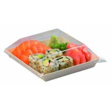 PackNWood 210SAMLT1313 Clear Lid for Square Samurai Tray - 100 / CS