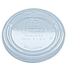 Fabri-Kal® 9509322 Greenware® Clear Flat Lid - 2000 / CS