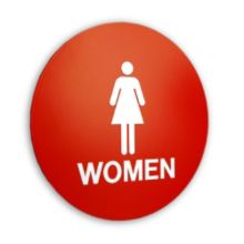 "Women 12"" Circle Restroom Sign"