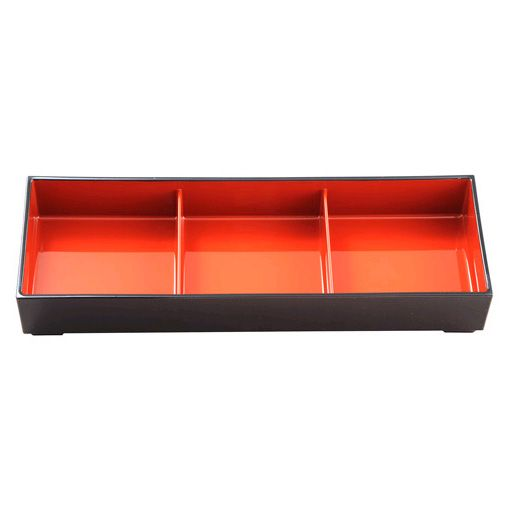 Korin Japanese Trading NR-311/03 Nagate 3-Compartment Bento Box