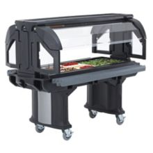 "Cambro® VBR5110 Black Versa Buffet Serving 69"" x 36"" Cold Food Bar"