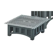 "Cal-Mil 1364-12-13 Black 12"" Sq. Bridge Style Cook N Serve Riser"