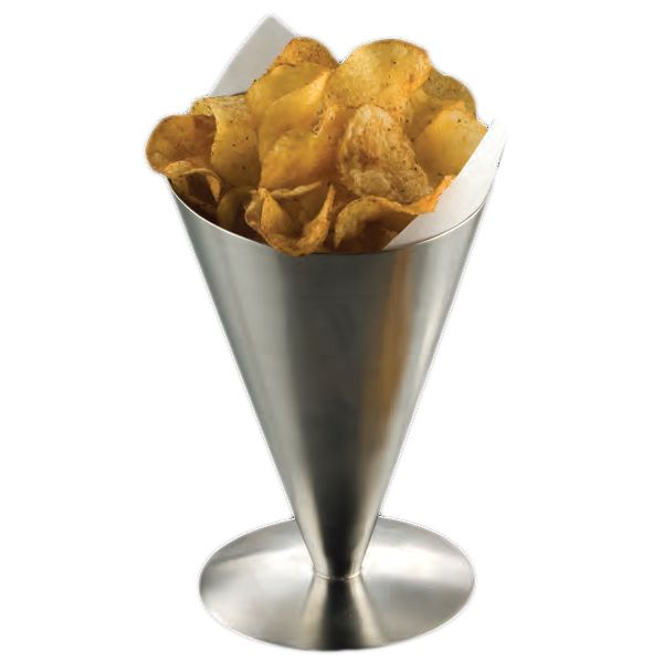 "American Metalcraft SSFC7 S/S Conical 7"" Snack Holder"
