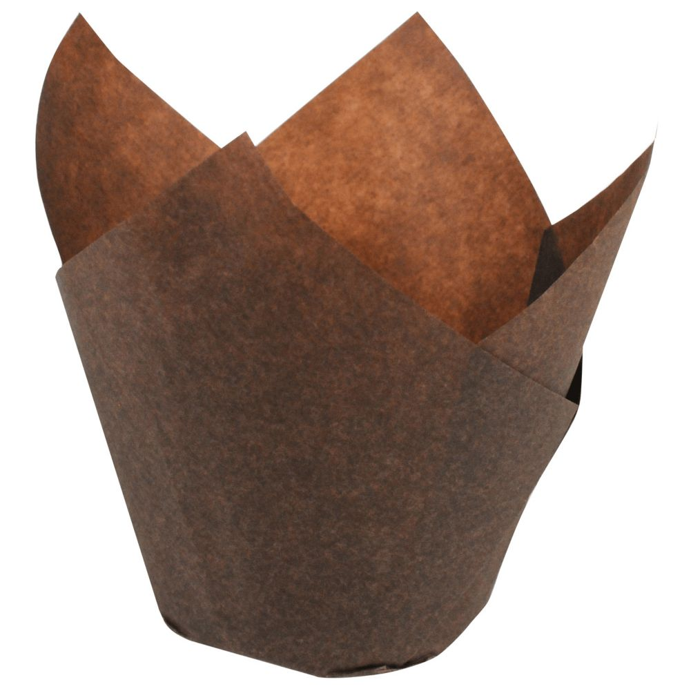 Hoffmaster® 611101 Small 3-4 Oz. Chocolate Tulip Cups - 2500 / CS