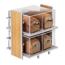 "Cal-Mil 1279 Bamboo / Metal 14 x 11.5 x 15"" Bread Case"