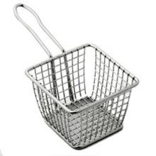 "American Metalcraft FRYS443 S/S 4"" Square Fry Basket"