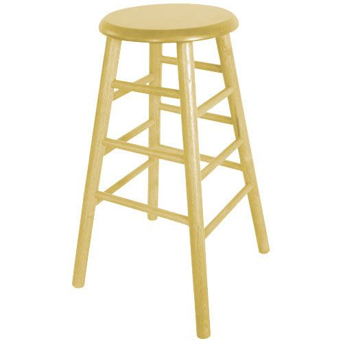 "Old Dominion 2704-30N Backless Oak Natural Finish 30"" Tavern Bar Stool"