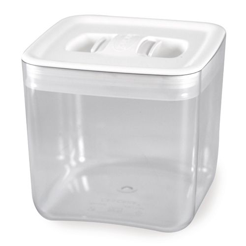 ClickClack 622002 2 Qt. Space Cube Container With White Lid - 4 / CS