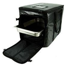 "A Plus Food Delivery Black 14 x 23 x 17"" Catering Bag"