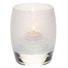 Hollowick® 6404CI Clear Ice Contour Glass Votive Lamp