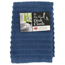 "Ritz® 22924 Royale 12"" x 13.75"" Federal Blue Dish Cloth"