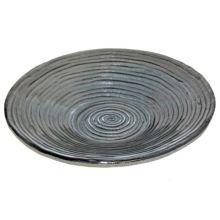 Turgla 04-316-45CHR Charcoal 144 Oz. Bowl with Spiral Pattern