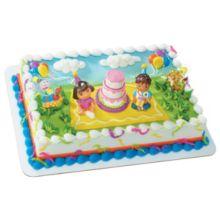 DecoPac 33627 Dora The Explorer Birthday Celebration DecoSet - 6 / BX