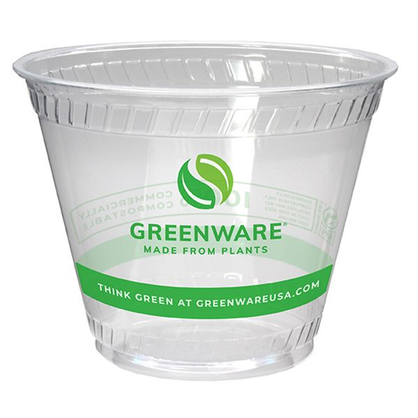 Fabri-Kal 9509207.05 Greenware 9 Ounce Compostable Cup - 1000 / CS