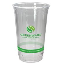 Fabri-Kal 9509209.05 Greenware 20 Ounce Compostable Cup - 1000 / CS