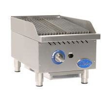 Globe Food GCB15G-CR Countertop Cast Iron Radiant Gas Charbroiler