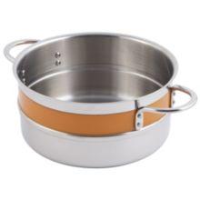Bon Chef 62301NC ORANGE 3.3 Qt. Single Wall Pot with Handles