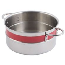 Bon Chef 62301NC RED 3.3 Qt. Single Wall Pot with Handles