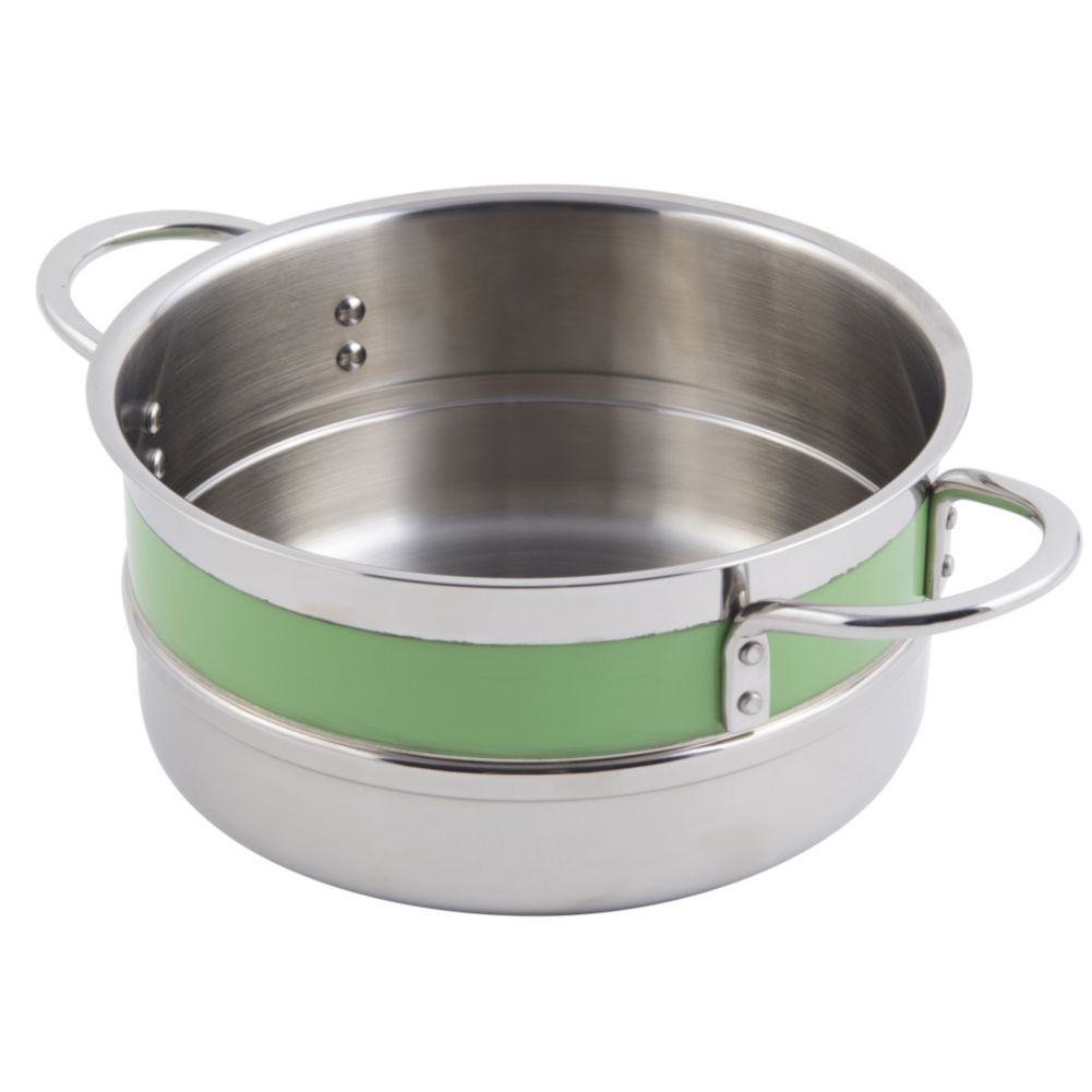 Bon Chef 62301NC LIME 3.3 Qt. Single Wall Pot with Handles