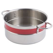 Bon Chef 62302NC RED 4.3 Qt. Single Wall Pot with Handles