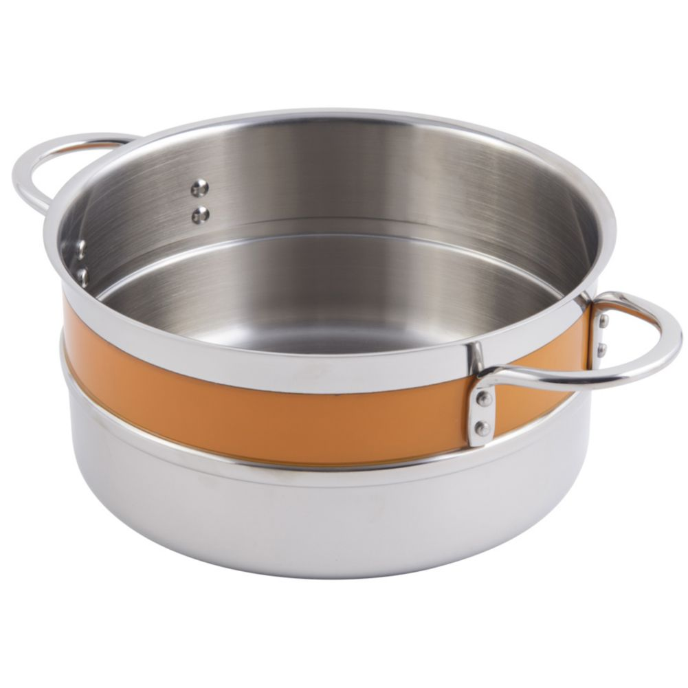 Bon Chef 62302NC ORANGE 4.3 Qt. Single Wall Pot with Handles