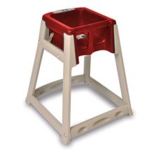 Koala Kare KB888-03 KidSitter Tan High Chair with Red Seat