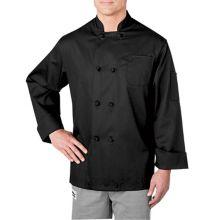 Chefwear® 5650-30-L Black Long Sleeve Cloth Button Jacket