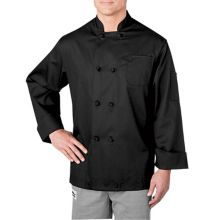 Chefwear® 5650-30-M Black Long Sleeve Cloth Button Jacket