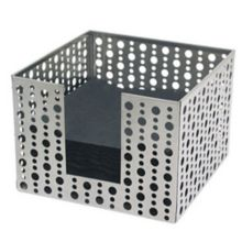 """FOH® BHO039BSS21 Dots 5.5"""" Stainless Napkin Holder - 4 / CS"""