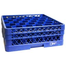 Traex TR12HH-44 Royal Blue 30 Compartment Glass Rack With 2 Extenders