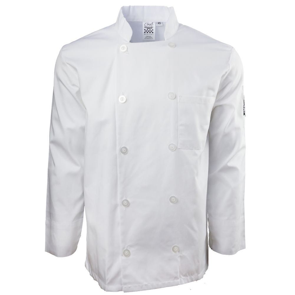 Chef Revival® J100-S White Small Basic Chef Jacket