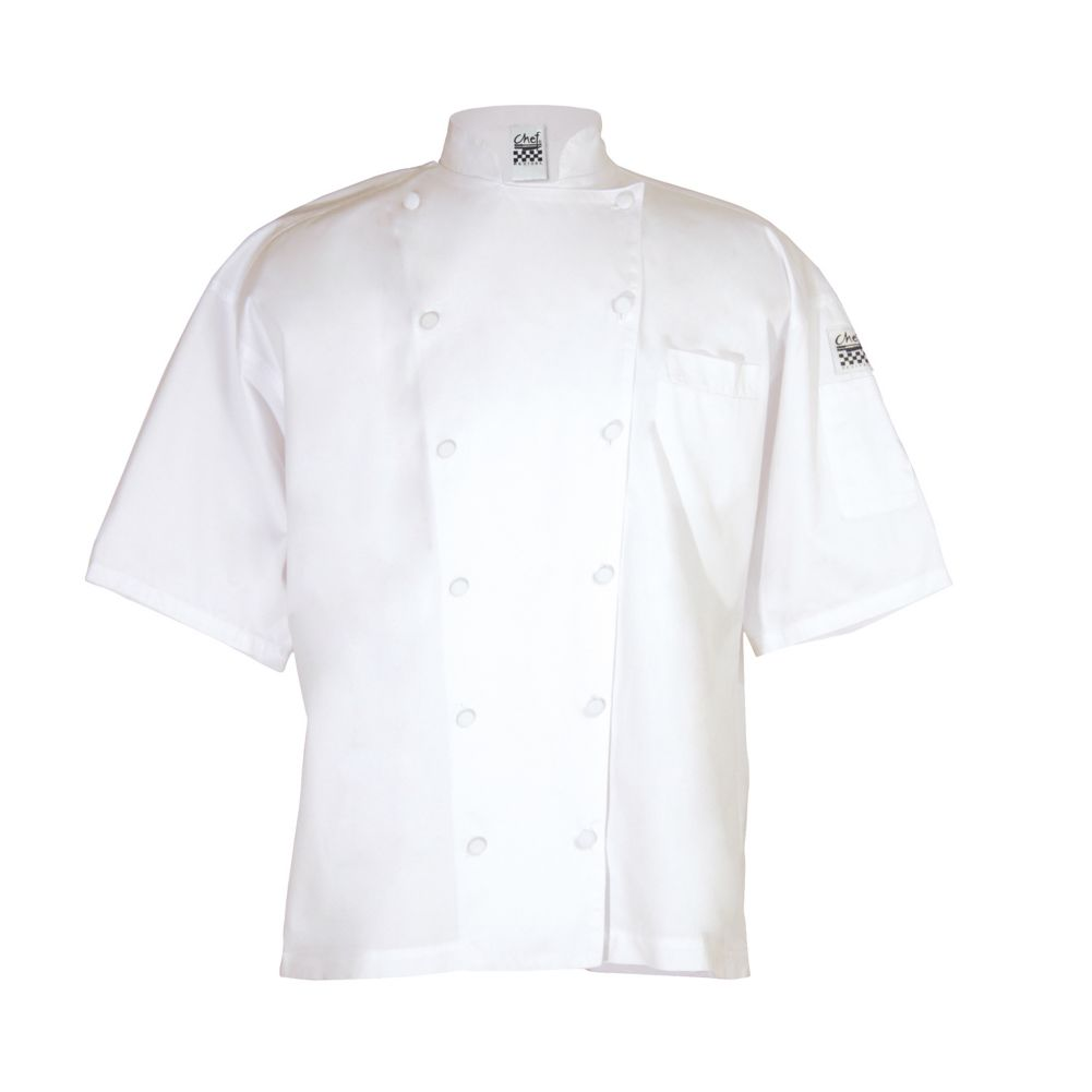 Chef Revival® J057-S White Small Short Sleeve Cuisinier Jacket