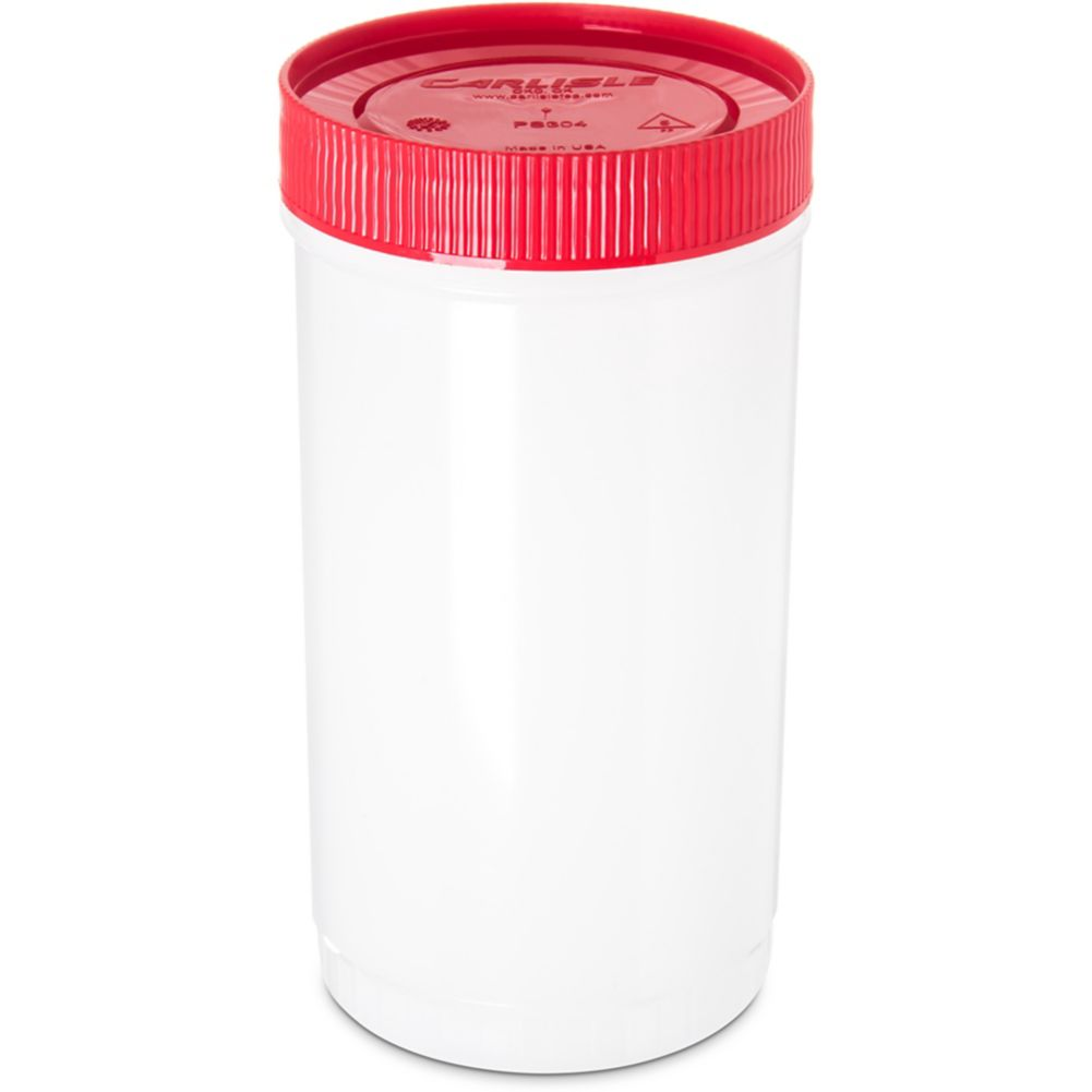 Carlisle PS602N05 Stor 'N Pour 1 Qt. Container with Red Lid