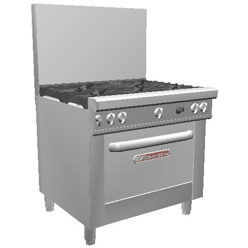 "Southbend 4365D Natural Gas 36"" 5 Burner Ultimate Range"