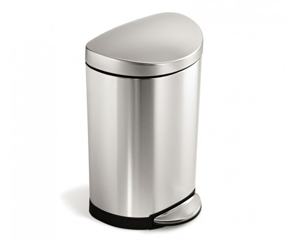 simplehuman CW1833 Brushed S/S Step-On 10 L / 2.6 Gal Trash Container