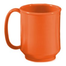 G.E.T.® SN-104-RO Rio Orange 8 Ounce Handled Sippy Mug - 24 / CS
