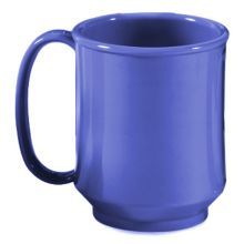 G.E.T.® SN-104-PB Peacock Blue 8 Ounce Handled Sippy Mug - 24 / CS