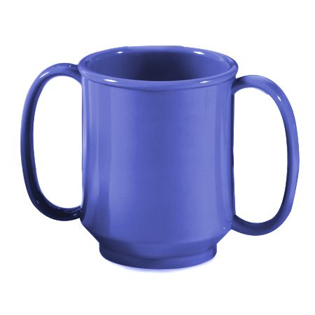 G.E.T. SN-103-PB Peacock Blue 8 Ounce Two Handle Sippy Mug - 24 / CS